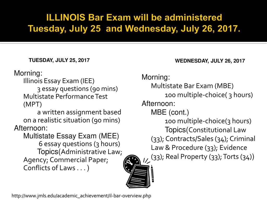 illinois bar exam topic frequency